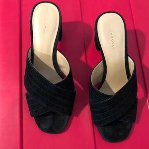 SALE! Beautiful Ann Taylor Black Suede Mules 5.5